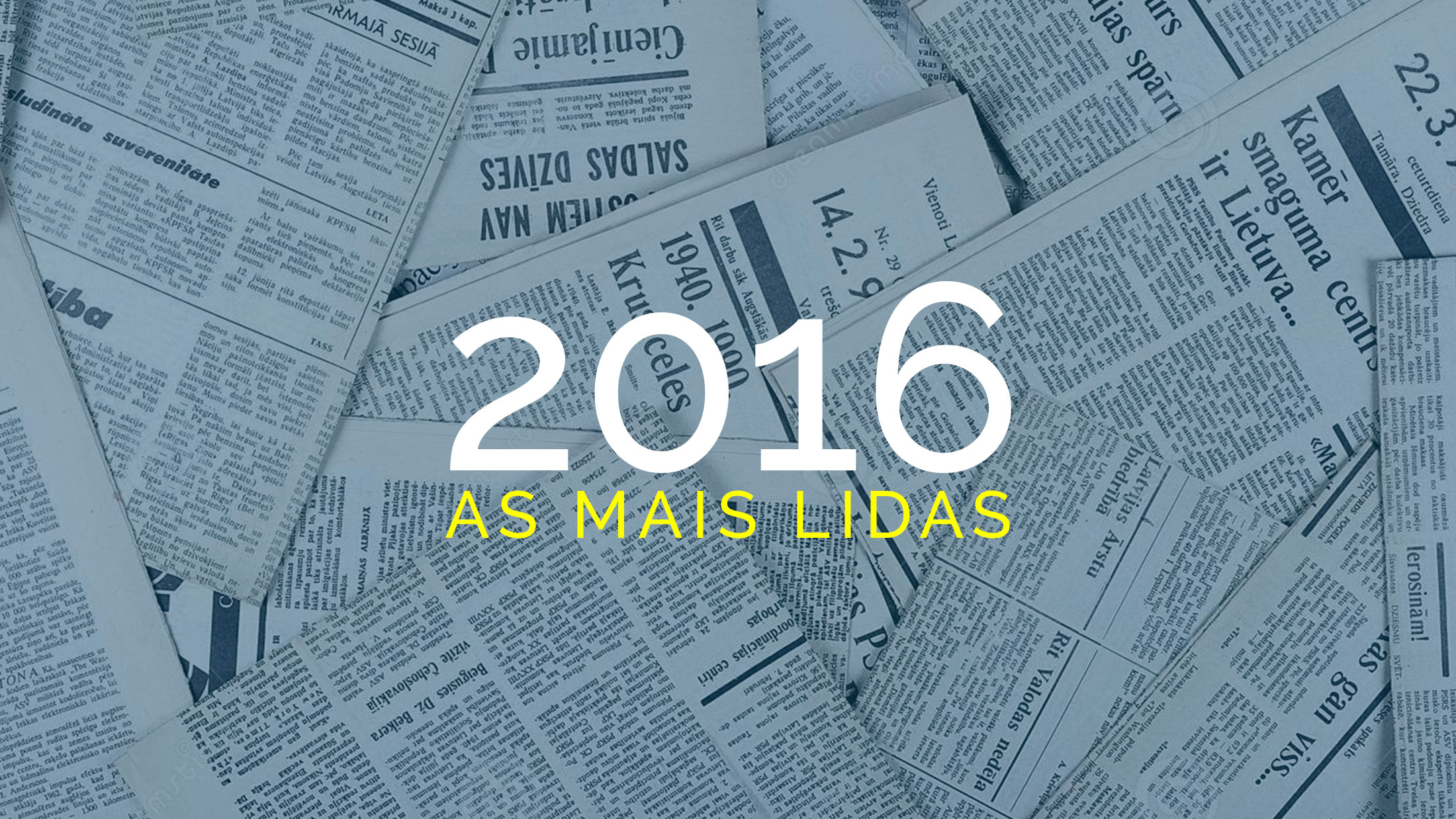 As Publicações mais lidas de Economia em 2016